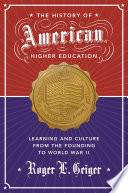 The History of American Higher Education Book PDF