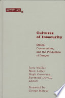 Cultures of Insecurity Book Online