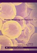 Powder Metallurgy of Titanium II Pdf/ePub eBook