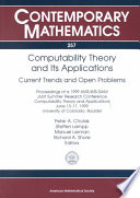 Computability Theory and Its Applications