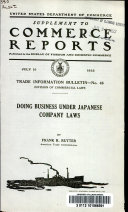 Doing Business Under Japanese Company Laws