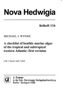 A Checklist of Benthic Marine Algae of the Tropical and Subtropical Western Atlantic