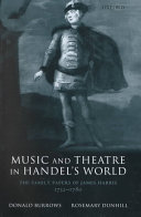 Music and Theatre in Handel s World