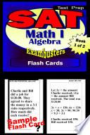 SAT Math Level I Test Prep Review  Exambusters Algebra Flash Cards  Workbook 1 of 2