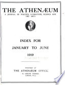 The Athenæum  : A Journal of Literature, Science, the Fine Arts, Music, and the Drama