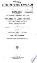 Civil Defense Program Book