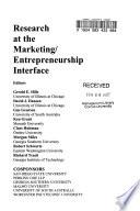 Research at the Marketing/entrepreneurship Interface