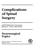 Complications of Spinal Surgery Book