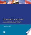 Managing Education Book PDF