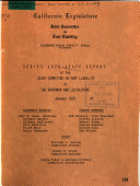 Series 1978 Staff Report of the Joint Committee on Tort Liability to the Governor and the Legislature Book
