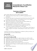 2012 Comprehensive Accreditation Manual For Home Care Camhc