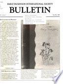 Emily Dickinson International Society Bulletin