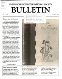 Emily Dickinson International Society Bulletin
