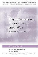 Psychoanalysis  Literature  and War