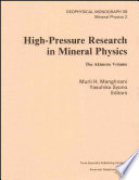 High Pressure Research in Mineral Physics