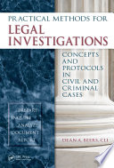 Practical Methods For Legal Investigations Book PDF