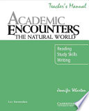 Academic Encounters The Natural World Teacher S Manual Book PDF