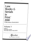 Bowker's Law Books and Serials in Print