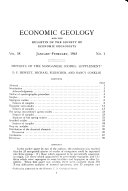 Economic Geology and the Bulletin of the Society of Economic Geologists