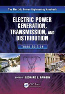 Electric Power Generation  Transmission  and Distribution  Third Edition