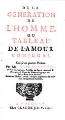 De la generation de l'homme ou tableau de l'amour conjugal. 8. ed. (etc.)