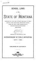 School Laws of the State of Montana