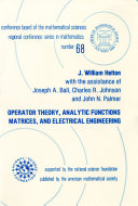 Operator Theory, Analytic Functions, Matrices, and Electrical Engineering [Pdf/ePub] eBook