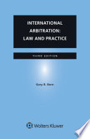 International Arbitration Law And Practice