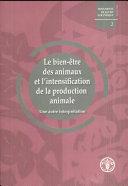 Le Bien-Être Des Animaux Et L'Intensification de la Production Animal
