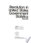 Revolution In United States Government Statistics 1926 1976