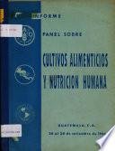 Informe del Panel sobre Cultivos Alimenticios y Nutricion Humana