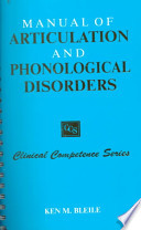 Manual of Articulation and Phonological Disorders