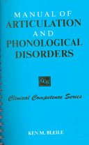 Manual of Articulation and Phonological Disorders Book PDF