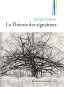 Pdf La Théorie des signatures Telecharger