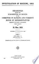Investigation of Housing, 1955[-56.]