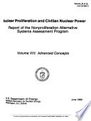 Nuclear Proliferation and Civilian Nuclear Power: Advanced concepts