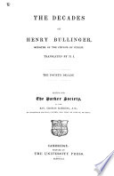 The Decades of Henry Bullinger Book PDF
