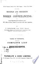 Principles and Precedents of Modern Conveyancing  1882