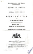 Minutes Of Evidence Taken Before The Royal Commission On Local Taxation PDF