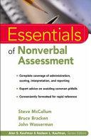 Essentials Of Nonverbal Assessment Book PDF
