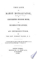 The Life of Ramon Monsalvatge, a Converted Spanish Monk