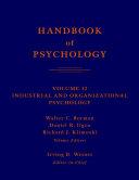 Pdf Handbook of Psychology, Industrial and Organizational Psychology