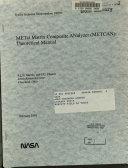 METal Matrix Composite ANalyzer  METCAN   Theoretical Manual