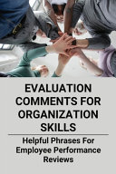 Evaluation Comments For Organization Skills