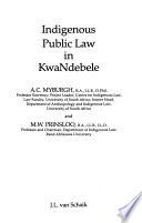 Indigenous Public Law in KwaNdebele