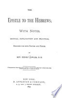 The Epistle to the Hebrews Book PDF