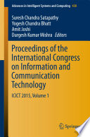 Proceedings of the International Congress on Information and Communication Technology Book