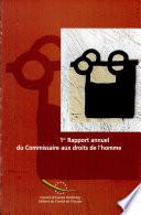 1er Rapport annuel du Commissaire aux droits de l'homme