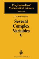 Several Complex Variables V [Pdf/ePub] eBook