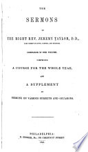 The Sermons of the Right Rev  Jeremy Taylor